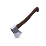 Thrust the axe. On white 3d model Stock Photo