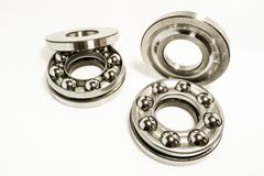 Thrust Ball Bearings. Isolated on white background royalty free stock image
