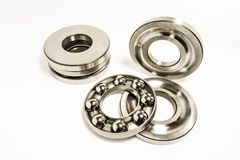 Thrust Ball Bearings. Isolated on white background stock photography