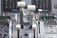 Thrust levers Stock Photos