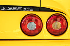 THRUXTON, HAMPSHIRE/UK - MARCH 20 : View of F355 GTS rear light Royalty Free Stock Photo