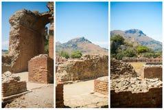 Théâtre du grec ancien dans Taormina Image libre de droits