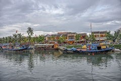 Thu Bòn River in Hoi An, Vietnam Stock Image