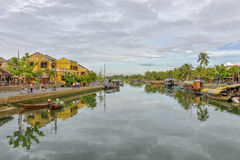 Thu Bòn River in Hoi An, Vietnam Stock Images