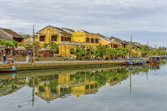 Thu Bòn River in Hoi An, Vietnam Stock Photo