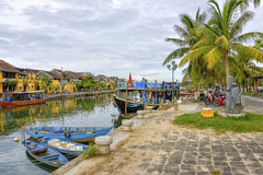 Thu Bòn River in Hoi An, Vietnam Royalty Free Stock Images