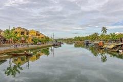 Thu Bòn River in Hoi An, Vietnam Stock Images