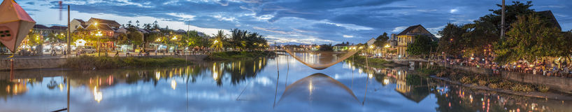 Thu Bon River en Hoi An, Vietnam Images stock