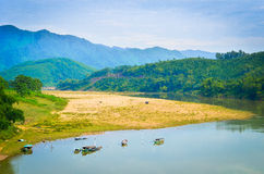 Thu Bon river at Viet Nam Royalty Free Stock Photography