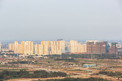 Thu Thiem Peninsula of Ho Chi Minh city. Ho Chi Minh City has the most dynamic economy in Vietnam Royalty Free Stock Photo