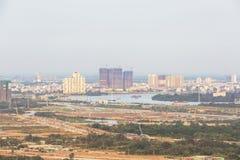 Thu Thiem Peninsula of Ho Chi Minh city. Ho Chi Minh City has the most dynamic economy in Vietnam Stock Photography