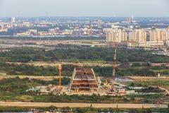 Thu Thiem Peninsula of Ho Chi Minh city. Ho Chi Minh City has the most dynamic economy in Vietnam Stock Photo