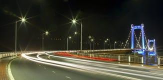 Thuan Phuoc Bridge, Da Nang nightlife Royalty Free Stock Photo