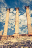 Thuburbo majus, Tunisia a few of the remaining pillars which onc Stock Photography