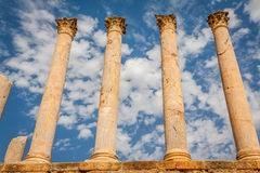 Thuburbo majus, Tunisia a few of the remaining pillars which onc Stock Photos