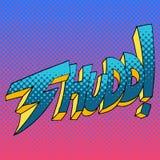 Thudd Comic Book Sound Effect Word stock illustration