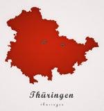 Thueringen德国艺术地图 免版税图库摄影