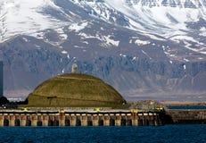 Thufa土墩在雷克雅未克,冰岛 免版税库存照片