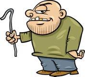 Thug with jemmy cartoon illustration. Cartoon Illustration of Thug or Ruffian with Crowbar Stock Photo