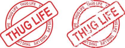Thug life circle red stamp sticker2 Royalty Free Stock Photos