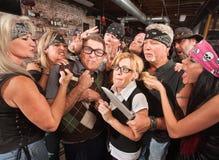 Thugs Teasing Nerds Stock Photos