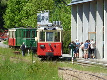 Thuin - June 4: Old heritage streetcar tramway in Aisne.Photo taken on June 4, 2017, Aisne, Belgium. Stock Photography