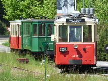Thuin - June 4: Old heritage streetcar tramway in Aisne.Photo taken on June 4, 2017, Aisne, Belgium. Royalty Free Stock Photos