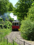 Thuin - June 4: Old heritage streetcar tramway in Aisne.Photo taken on June 4, 2017, Aisne, Belgium. Stock Image