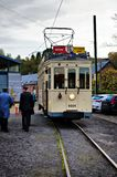 Thuin - October 30: Old heritage streetcar tramway Royalty Free Stock Photos