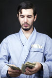 Thuis makend Contant geld Stock Fotografie