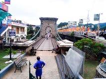 Thukkupalam hanging bridge in Kerala God& x27;s on country stock photography