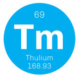 Thulium chemical element Royalty Free Stock Images