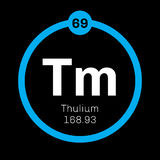 Thulium chemical element Stock Photos