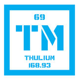 Thulium chemical element Stock Photo