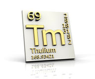 Thulium form Periodic Table of Elements Stock Photo