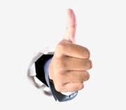 Thumb вверх для успеха в деле Стоковые Изображения RF