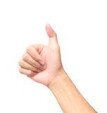 Thumb палец с болью на белых предпосылке, здравоохранении и medi Стоковое Изображение RF