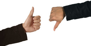 And, thumb Royalty Free Stock Photography