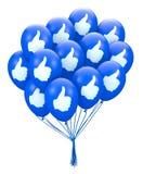 Thumb balloon Royalty Free Stock Image