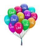 Thumb balloon Royalty Free Stock Photo