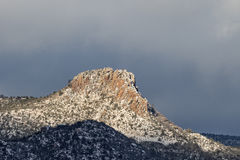Thumb Butte Prescott Arizona in Winter Royalty Free Stock Photography