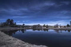 Thumb Butte Reflected Royalty Free Stock Images