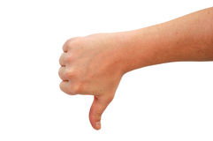 Thumb Down Stock Photography