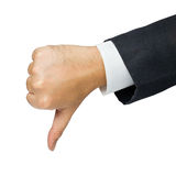 Thumb down Royalty Free Stock Images