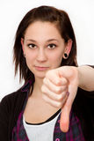 Thumb down Stock Photos