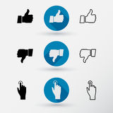 Thumb down applique. Stock Image