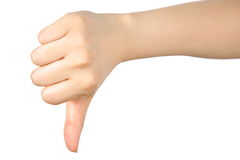 Thumb down Stock Images