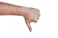Thumb down Royalty Free Stock Image