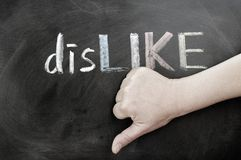 Thumb down with dislike Stock Photos