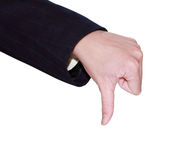 Thumb Down Gesture. Isolated on white background Royalty Free Stock Image